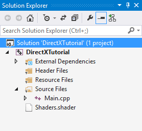 The Shader File in Solution Explorer